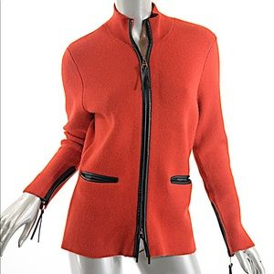 ZOE COUTURE Cashmere Red 100% Cashmere Leather Trm